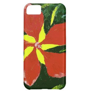 Scarlet Hibiscus Case For iPhone 5C