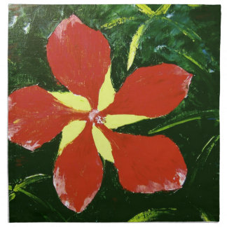 Scarlet Hibiscus Cloth Napkins