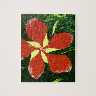 Scarlet Hibiscus Jigsaw Puzzle