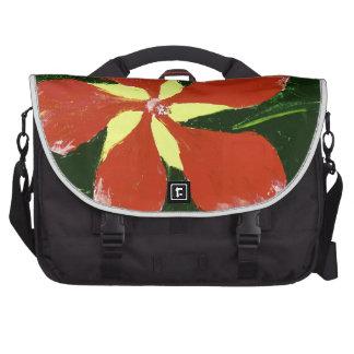 Scarlet Hibiscus Laptop Bags