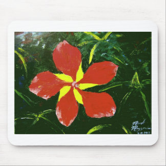 Scarlet Hibiscus Mouse Pad