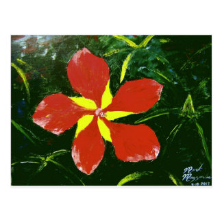 Scarlet Hibiscus Postcard
