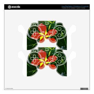 Scarlet Hibiscus PS3 Controller Skin