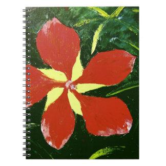 Scarlet Hibiscus Spiral Notebooks