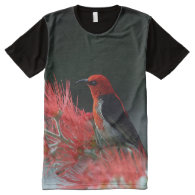 Scarlet Honeyeater 1 All-Over Print T-shirt