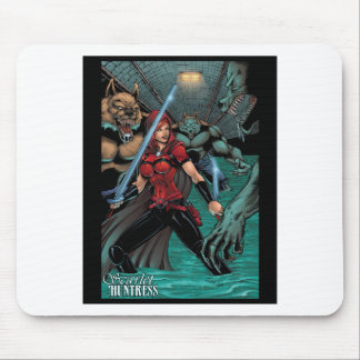 Scarlet Huntress vs Werewolves in the sewer Mousepad