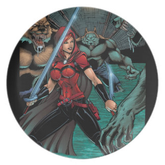 Scarlet Huntress vs Werewolves in the sewer Plate