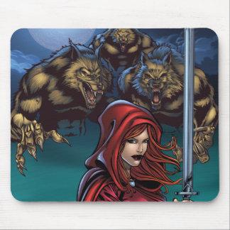 Scarlet Huntress vs Werewolves Mouse Pads