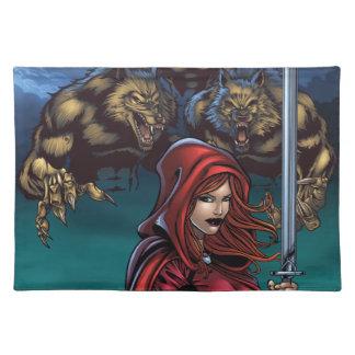 Scarlet Huntress vs Werewolves Place Mat