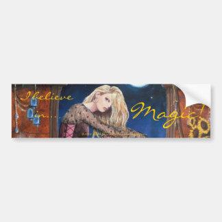 scarlet, I believe in..., Magic!  By Lori Karels Car Bumper Sticker