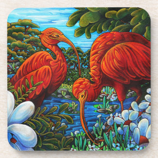 Scarlet Ibis Coaster Set of 6