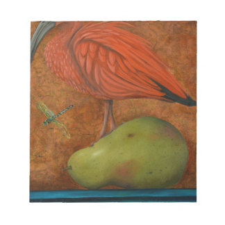 Scarlet Ibis On A Pear Notepad