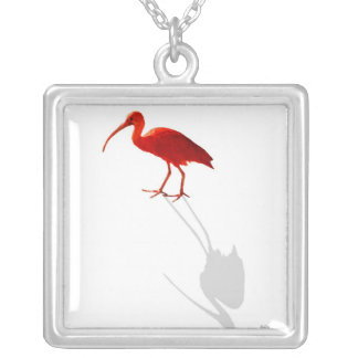 Scarlet Ibis Silver Plated Necklace