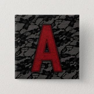 Scarlet Letter A Button