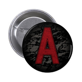 Scarlet Letter A Pinback Button
