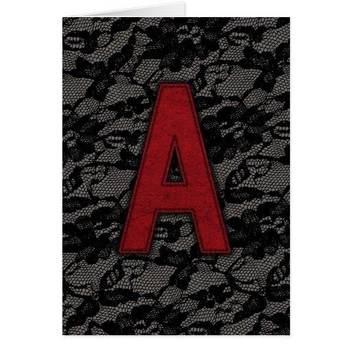 Scarlet Letter A Card