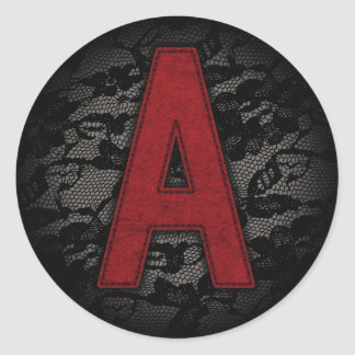 Scarlet Letter A Classic Round Sticker