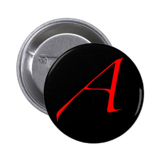 Scarlet letter A (for Atheist) 2 Inch Round Button