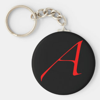 Scarlet letter A (for Atheist) Basic Round Button Keychain