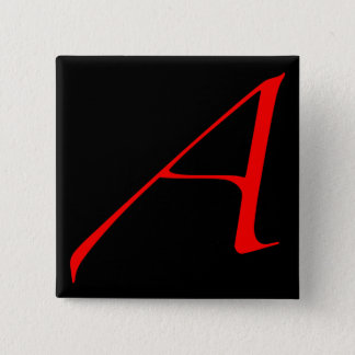 Scarlet letter A (for Atheist) Button