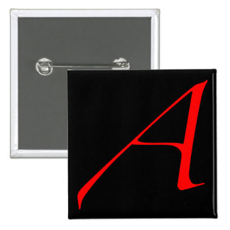 Scarlet letter A (for Atheist) Pin