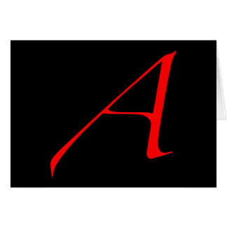 Scarlet letter A (for Atheist) Card