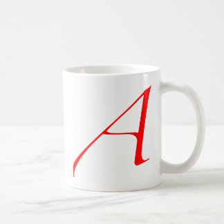 Scarlet letter A (for Atheist) Coffee Mug