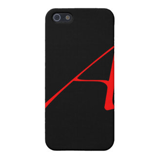 Scarlet letter A (for Atheist) iPhone 5 Case
