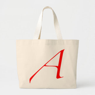 Scarlet letter A (for Atheist) Large Tote Bag