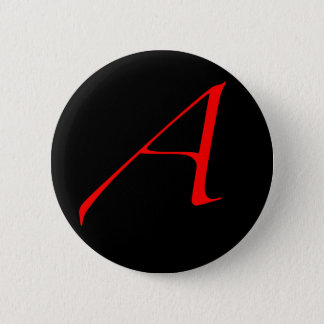 Scarlet letter A (for Atheist) Pinback Button