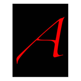 Scarlet letter A (for Atheist) Postcard