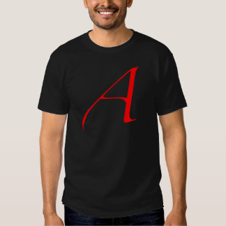 Scarlet letter A (for Atheist) T Shirt
