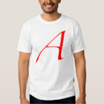Scarlet letter A (for Atheist) T-shirts