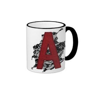 Scarlet Letter A Ringer Coffee Mug