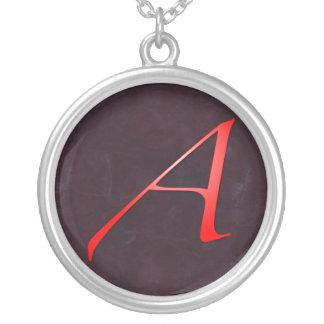 Scarlet Letter A Pendant Necklace