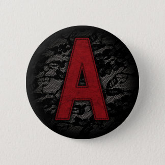 Scarlet Letter A Pinback Button