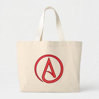 Scarlet Letter Atheist Symbol Large Tote Bag