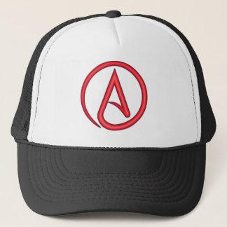 Scarlet Letter Atheist Symbol Trucker Hat