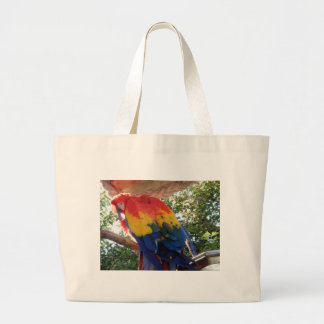 scarlet macaw #1 tote bags
