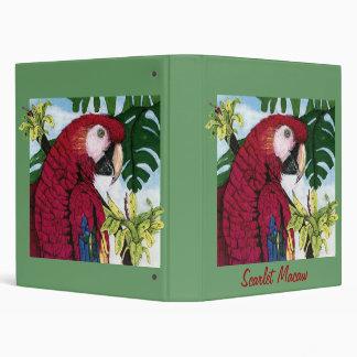 Scarlet Macaw 3 Ring Binder