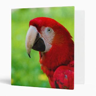 Scarlet Macaw Ara Macao American Parrot 3 Ring Binders