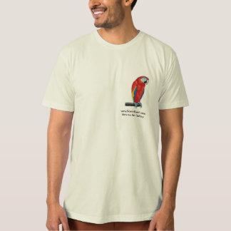 Scarlet Macaw Art Men's Organic T-Shirt Shirt