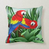 Scarlet Macaw Art Throw Pillow