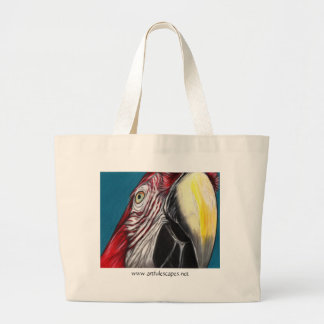 Scarlet Macaw Art Tote Canvas Bag