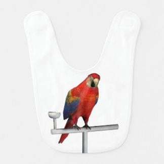 Scarlet Macaw Baby Bib