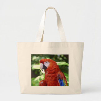 Scarlet Macaw Tote Bags