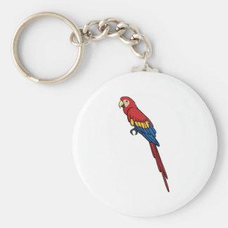 Scarlet Macaw Basic Round Button Keychain