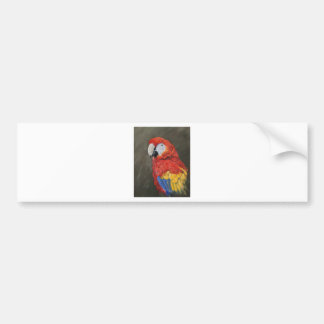 Scarlet Macaw created for you Bumper Sticker
