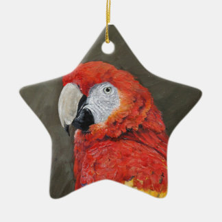 Scarlet Macaw created for you Ceramic Ornament