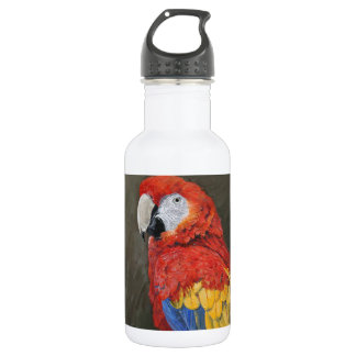 Scarlet Macaw created for you 18oz Water Bottle